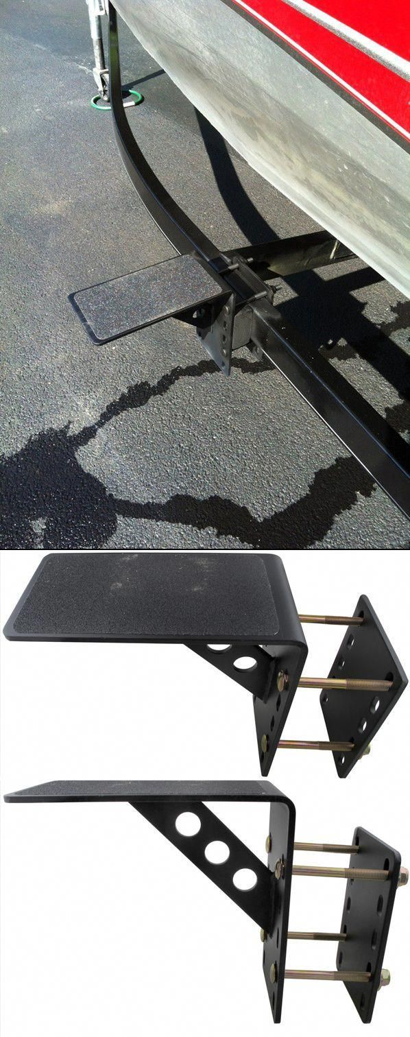 Boat Trailer Step Up One Of Many Awesome Accessories For A Boat Trailer Unique Step Makes It Easy To Pre Bass Boat Accessories Boat Trailer Boat Accessories