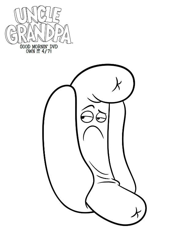 Uncle Grandpa Coloring GrandpaColoring Pages