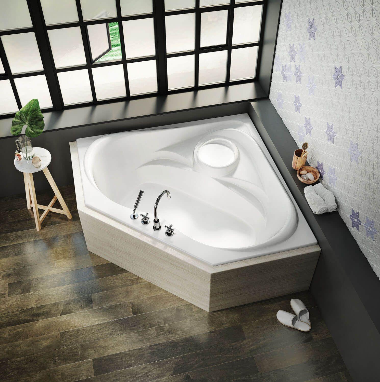 Bainultra Thermal Cn2k Two Person Large Corner Drop In Air Jet Bathtub For Your Modern Bathroom Jetted Bath Tubs Bathroom Design Software Whirlpool Bathtub