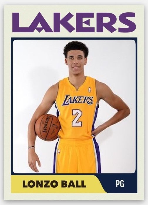 Details About 2017 18 Hoops 252 Lonzo Ball Rc Rookie Los