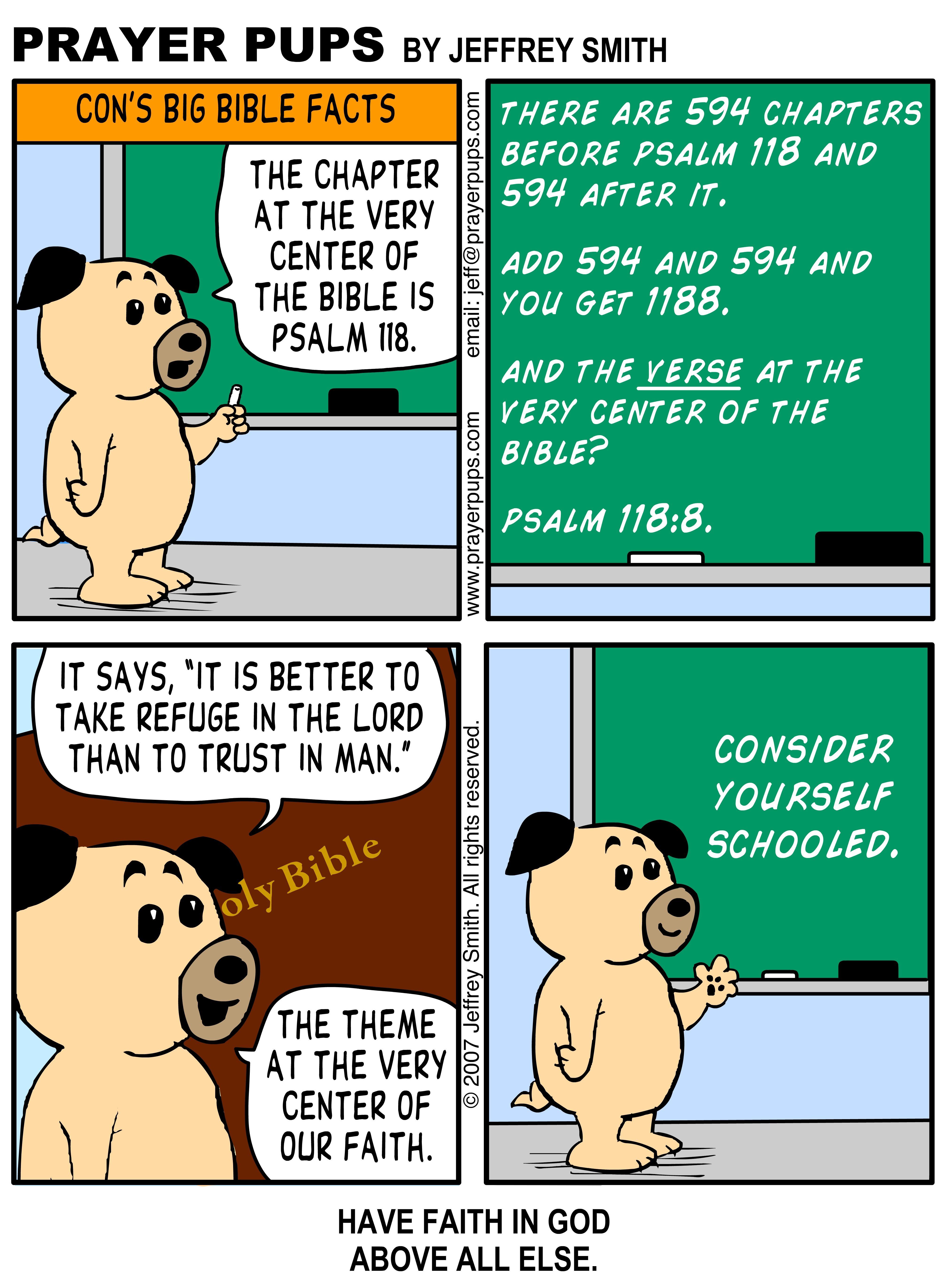 Con's Big Bible Facts Psalm 1188 Christian cartoons