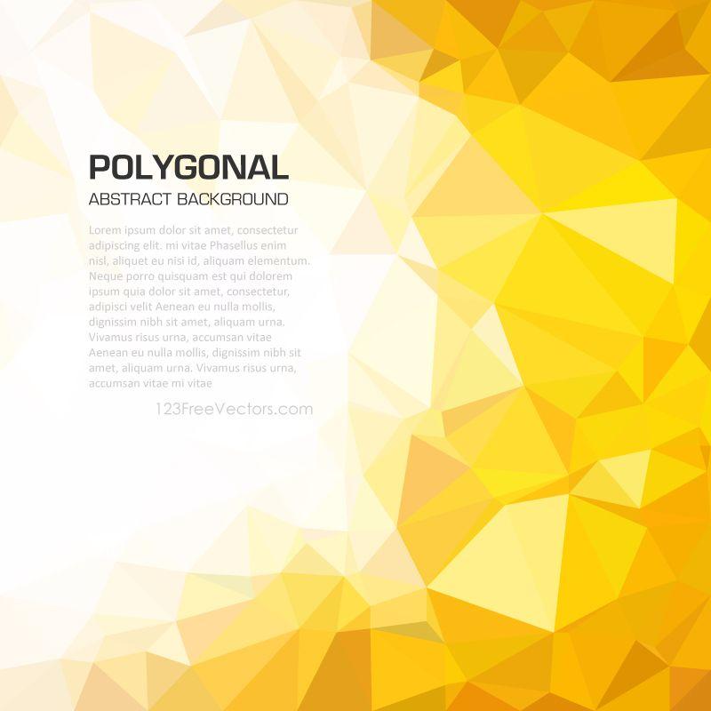 Yellow Orange Geometric Polygon Background Image