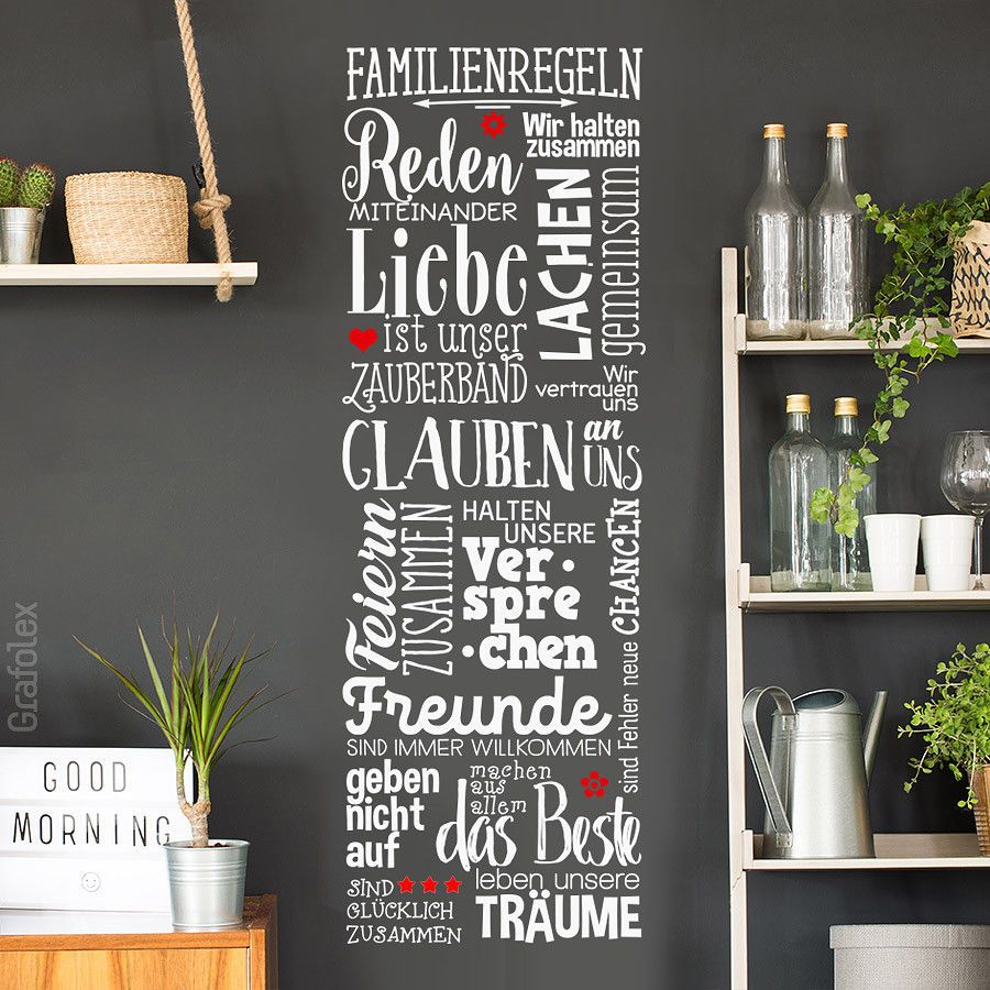 Wandtattoo Küchenregeln Wall Decals Family Rules Family Rules Home Love Living Room Wall