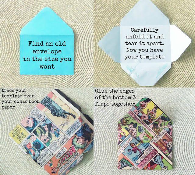 Diy Envelopes Homemade Paper Envelope Templates Comic Books Diy