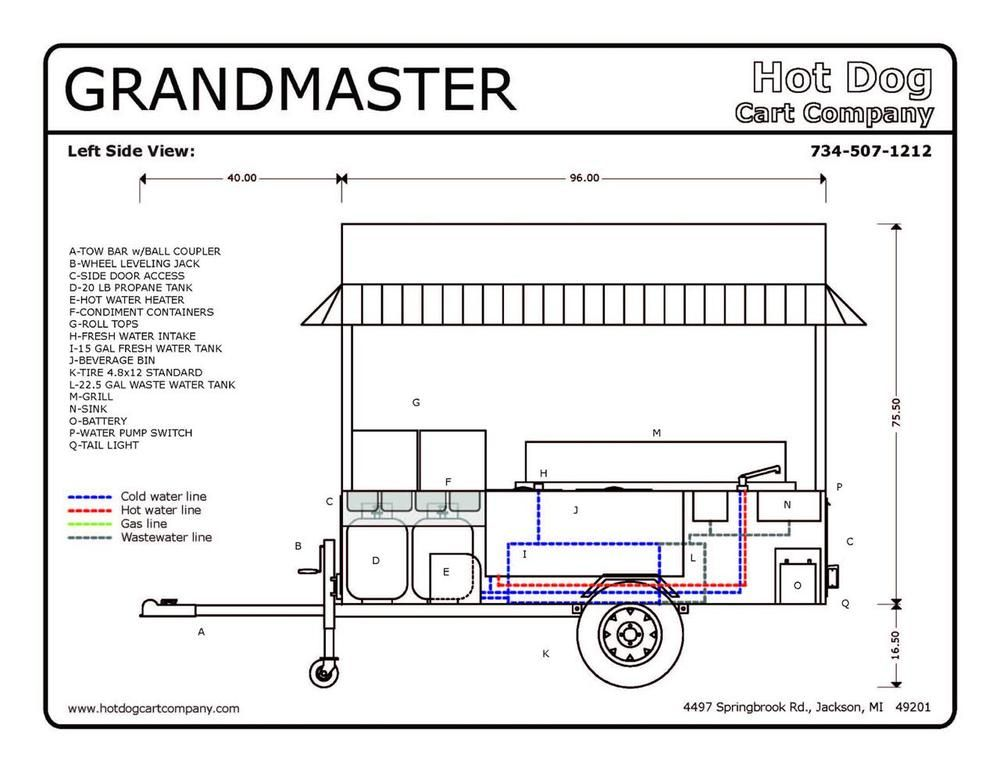 Simple Practical Mobile Food Cart Container Cafe Eatery Rhpinterestch: Concession Trailer Wiring Diagrams Free At Gmaili.net