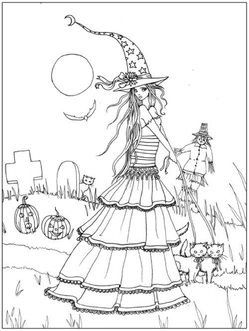 Coloring page Fall Halloween Coloring Pages Pinterest - best of nice halloween coloring pages