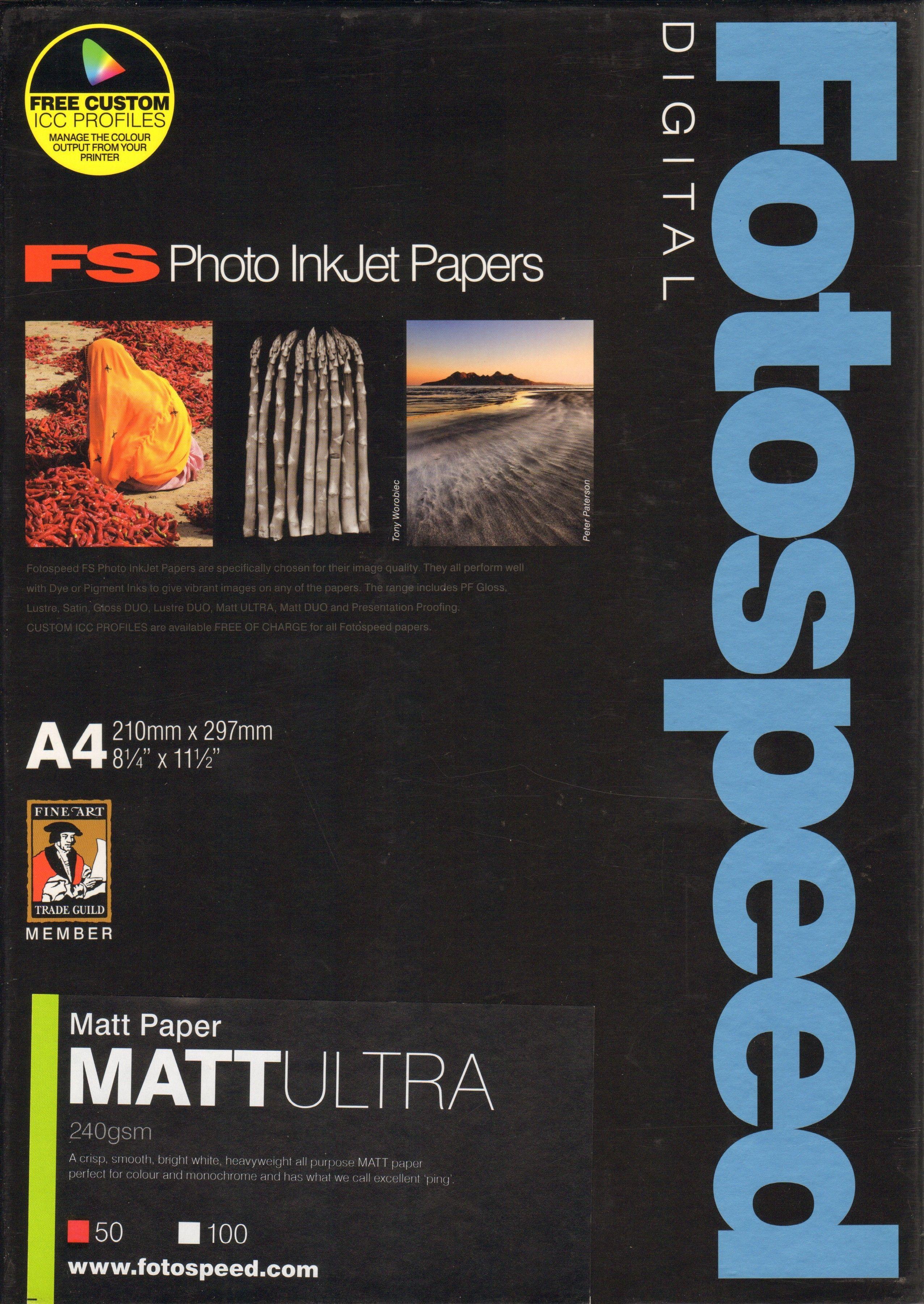 50 Sheets Black Diamond A4 Gloss Inkjet Photo Paper Quality Heavyweight 260gsm