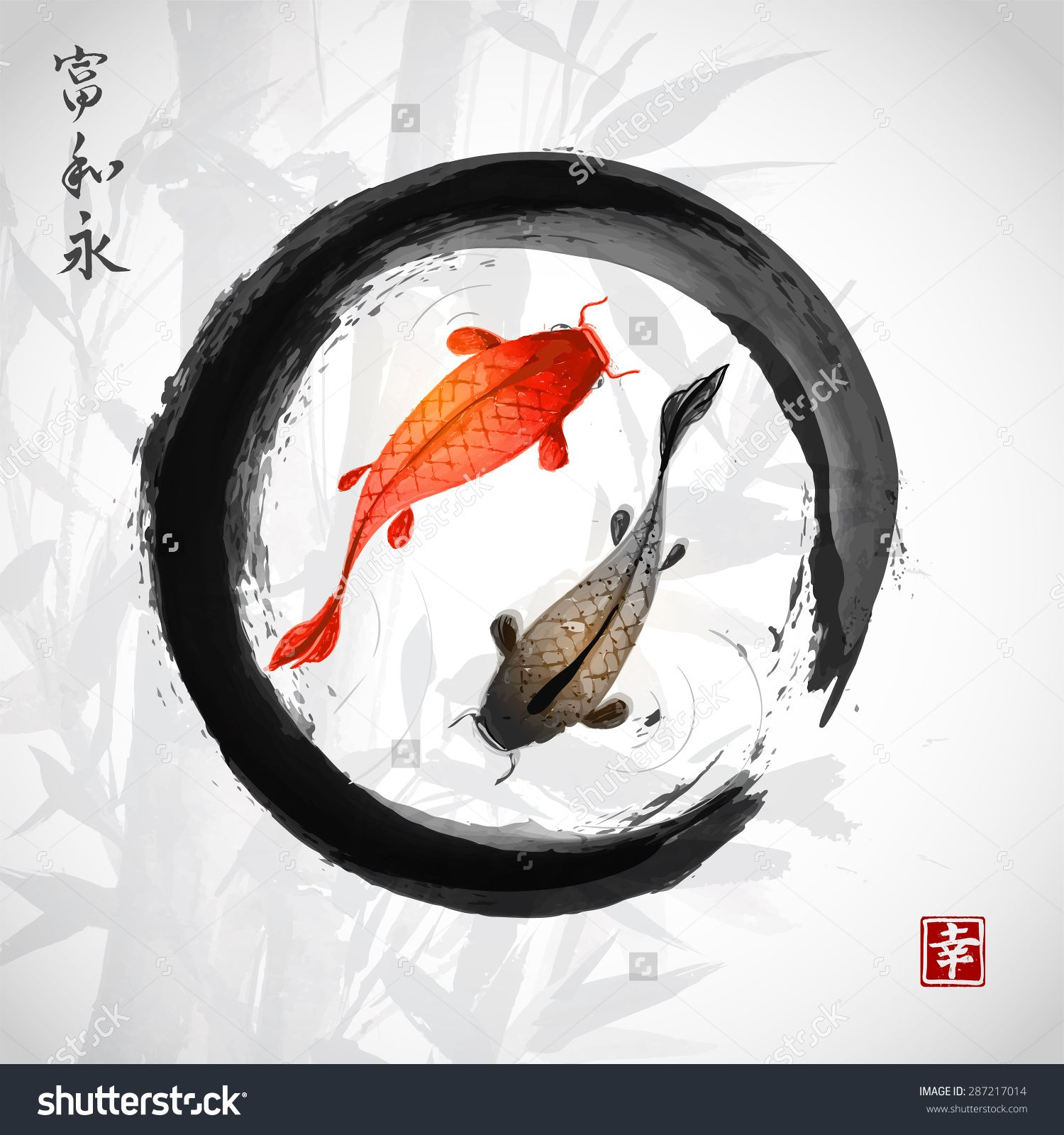 zen circle koi tattoo - Google Search
