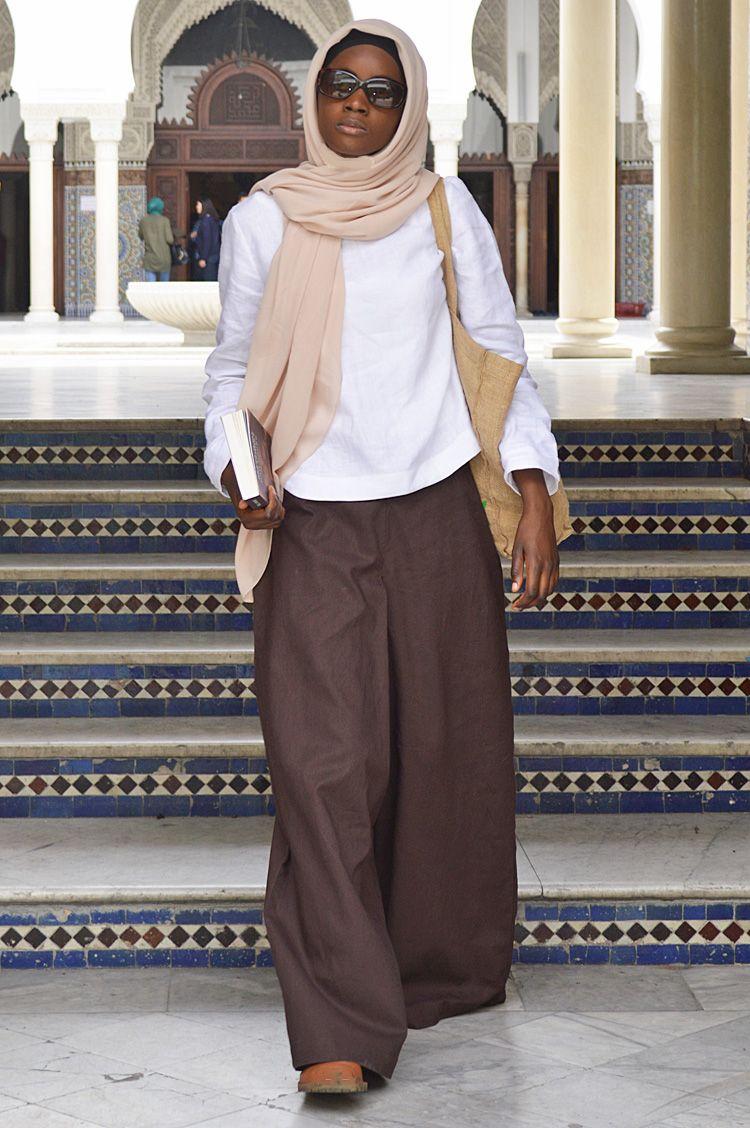 1b9a16d9472 PALAZZO ÉBÈNE COTON MÉLANGÉ LIN Ramadan 2017 lookbook grande Mosquée de  Paris - vestiaire de la femme musulmane  longues robes abaya