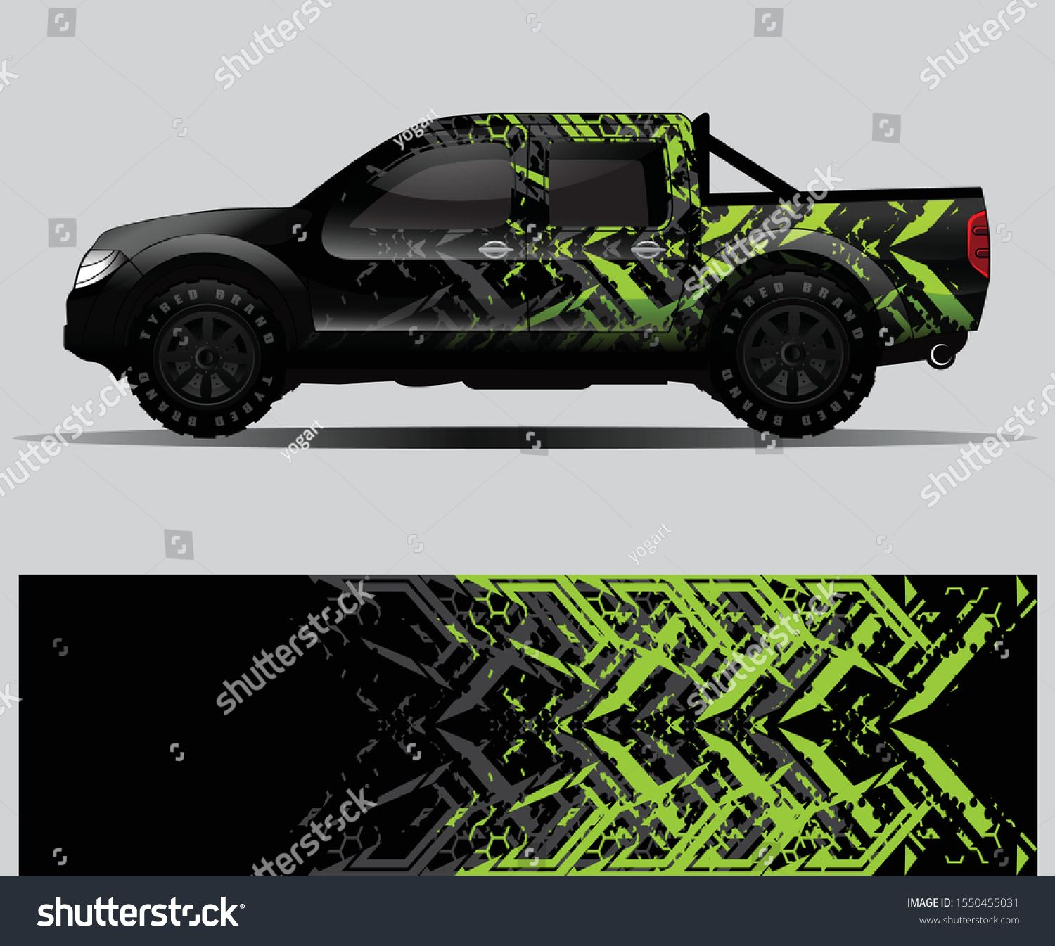 Truck Decal Graphic Wrap Vector Abstract Stock Vector Royalty Free 1550455031 Mobil Balap Mobil Pembalap