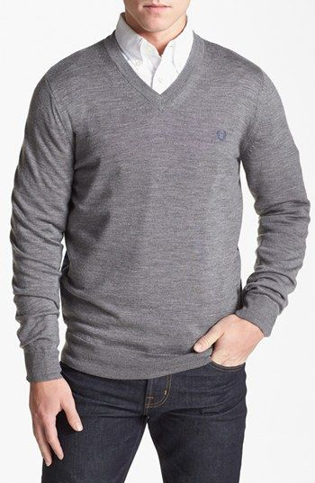 Fred Perry Plaid V-Neck Sweater available at #Nordstrom
