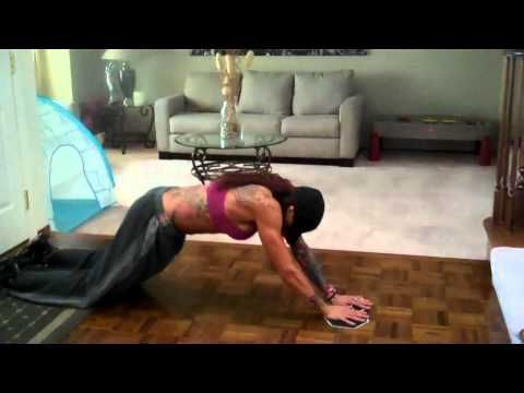 I LOVE her ABS!  Ab Workouts For Women Without Equipment. http://www.trainwithjenntv.com Jenn Aguirre created an at home ab workout for women without equipment that is guaranteed to get you a flatter belly. http://www.trainwithjenntv.com
