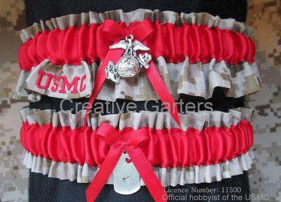 Now For On Urcrafti See Us Marine Usmc Wedding Garter Set