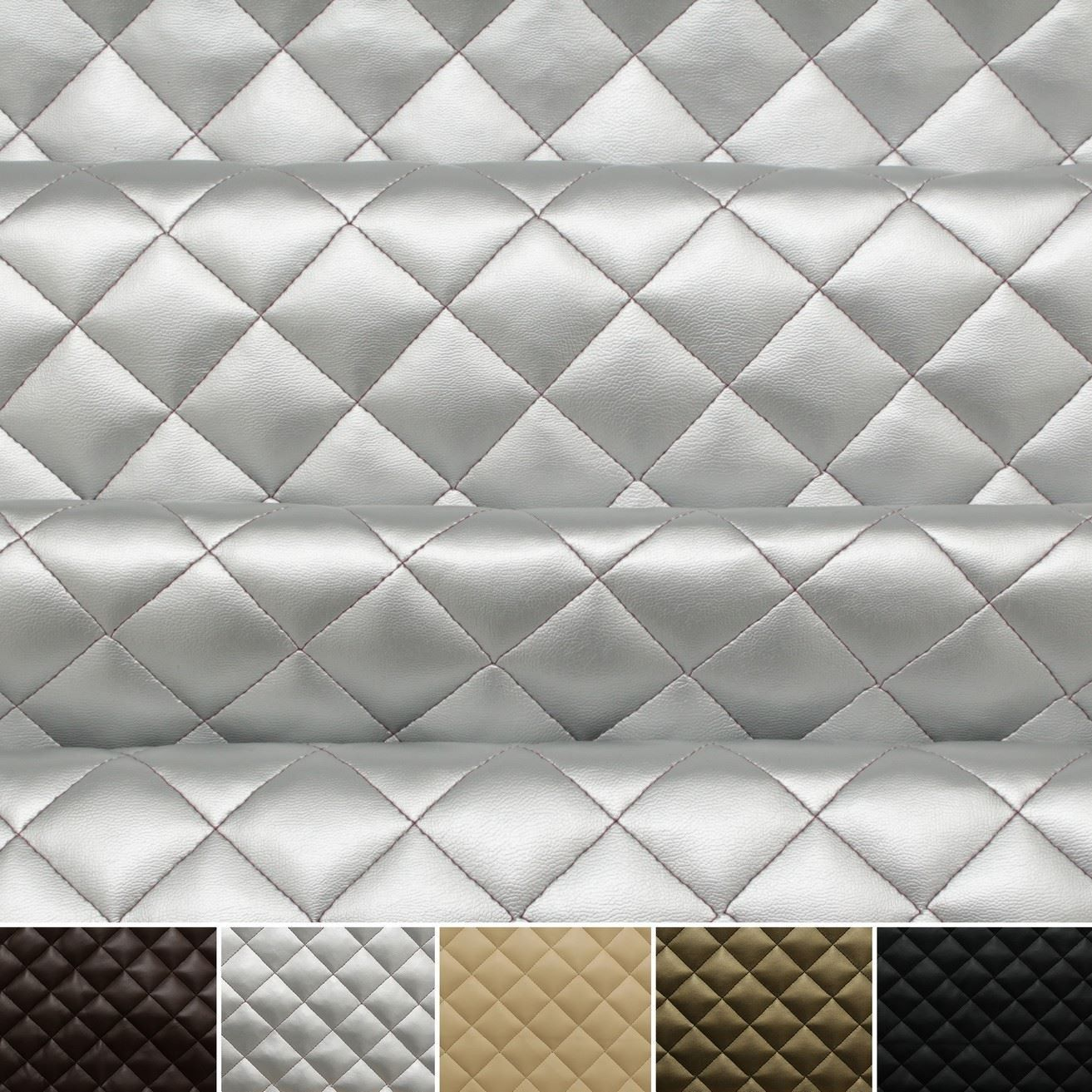 Diamond Quilted Padded Faux Leather Fabric | Fabric inspiration ... : quilted leather material - Adamdwight.com