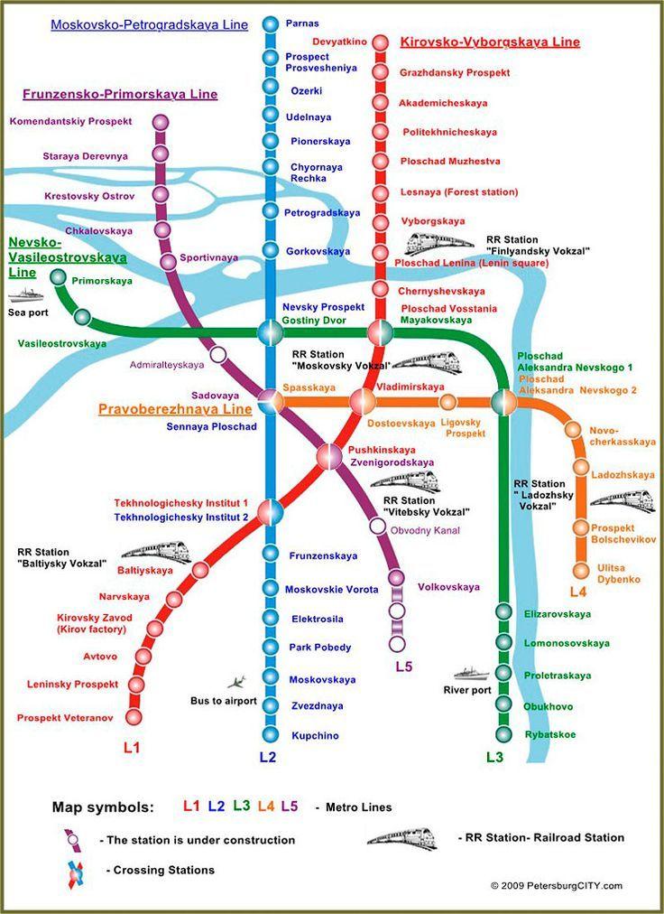 Saint Peterburg Subway Map.Cool St Petersburg Metro Map Travelquaz In 2019 Saint Petersburg