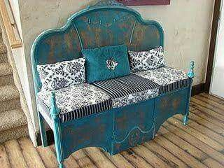 Head Board And Upside Down Footboard This Is Awesome Furniture Upcycled Furniture Headboard Benches