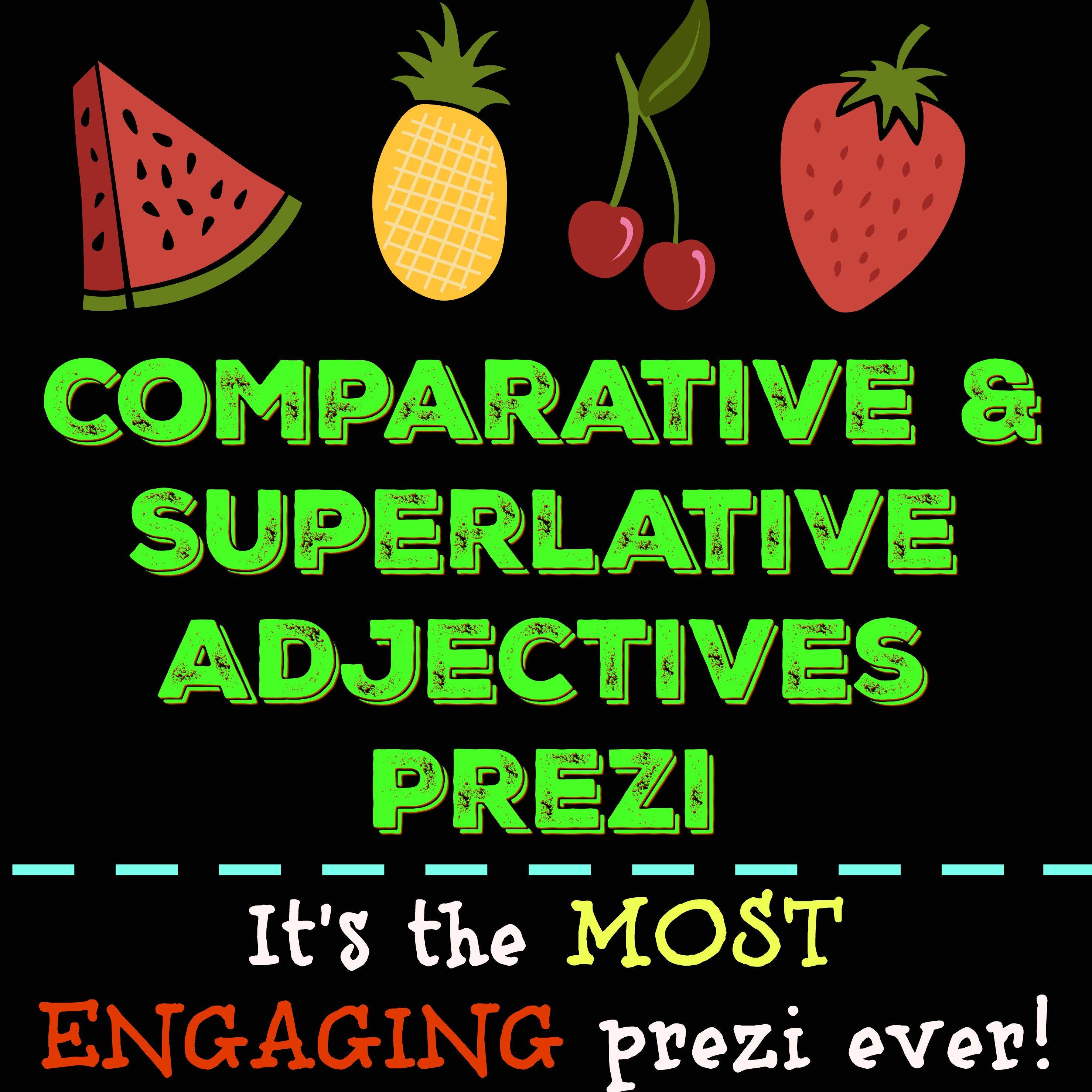Comparative And Superlative Adjectives Prezi With Handout