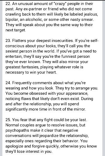 6/8 Red Flags of narcissistic sociopath personality A help for