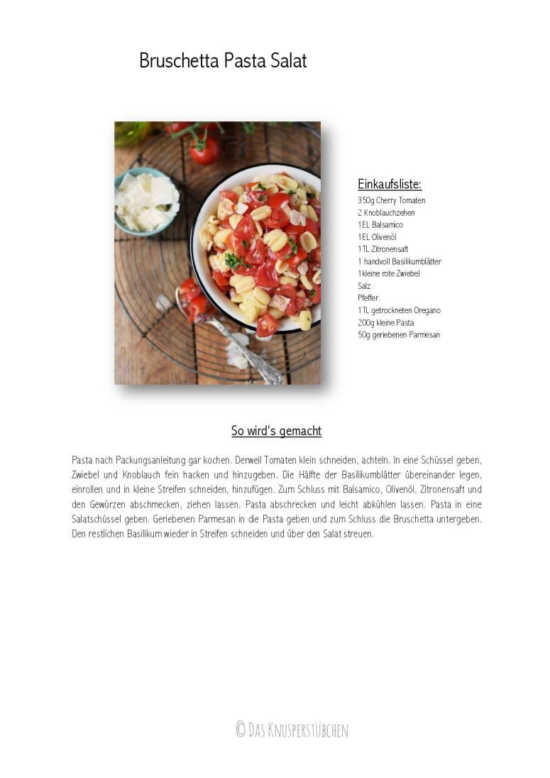 Bruschetta Pasta Salat - Bruschetta Pasta Salad | Das Knusperstübchen