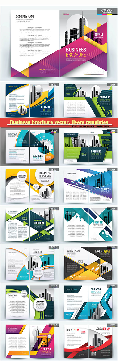 Download Business brochure vector flyers templates 79 Free - business pamphlet templates free