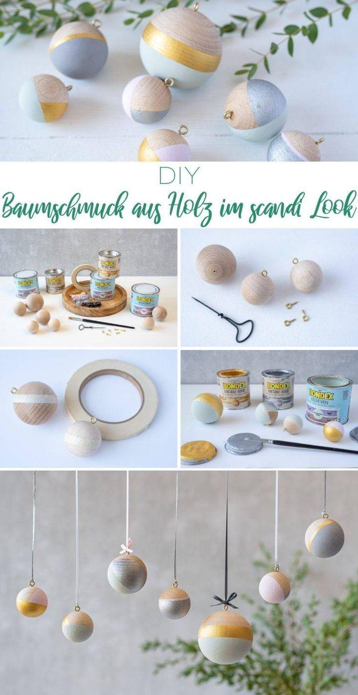 Drei DIY Projekte aus Holz für deine Weihnachtsdeko im scandi Look - Leelah Loves
