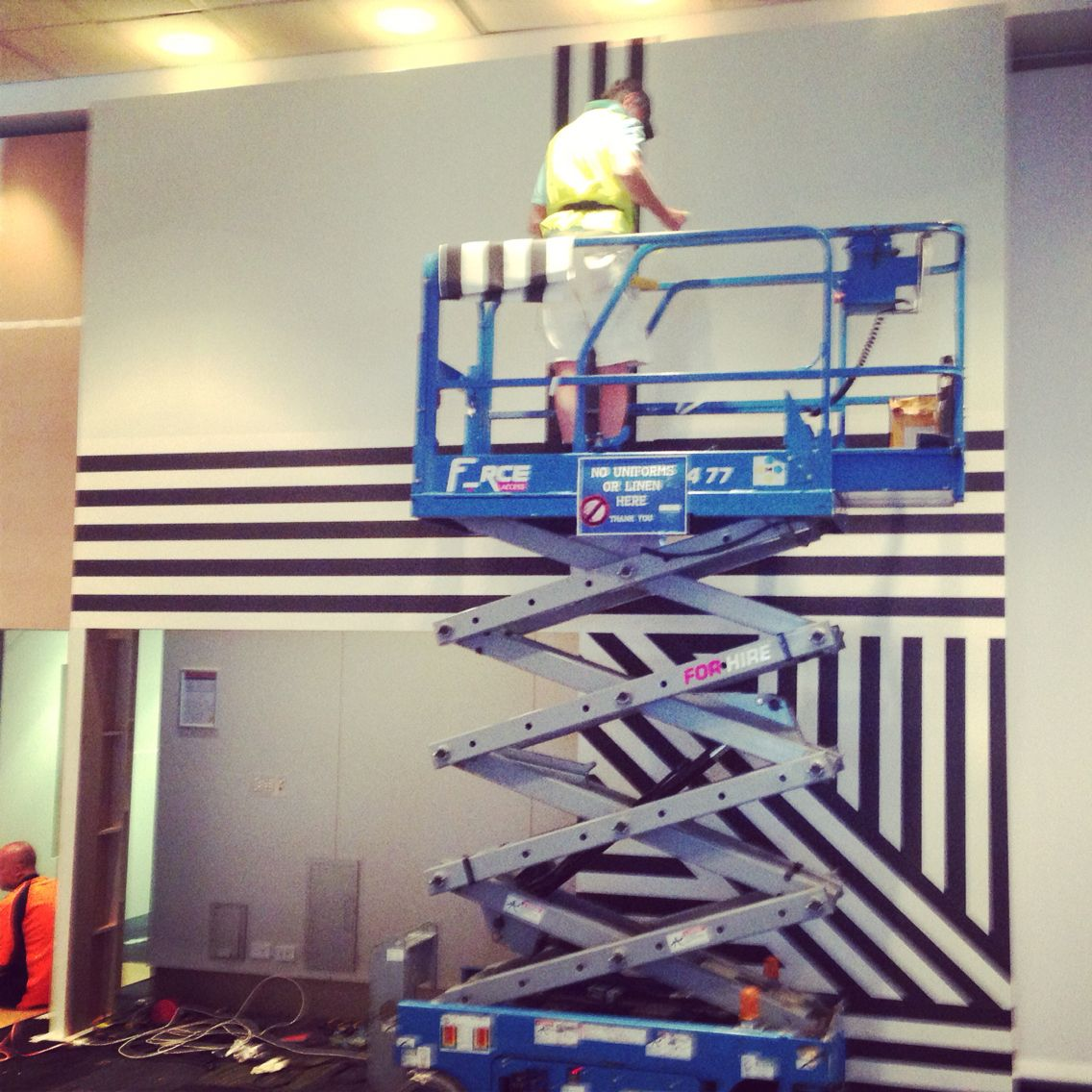 Getting Creative With Striped Wallpaper Installation By Cuttingedgewallpaperingau