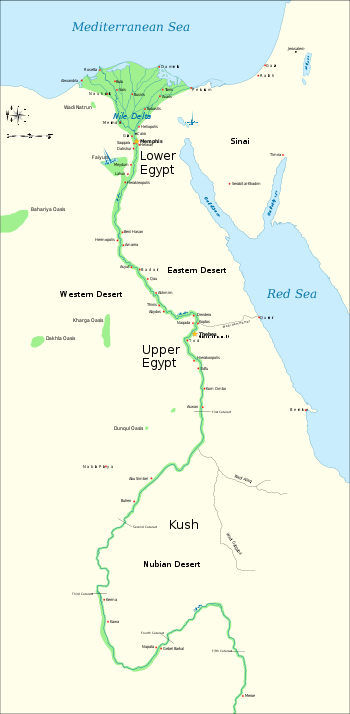 Nubian Egypt Nubia And Ancient Upper And Lower Egyptian Map Svg