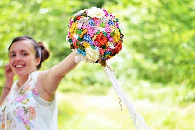 Maize Hutton: The Crocheted Flower Wedding Bouquet | Crochet & Knit ...