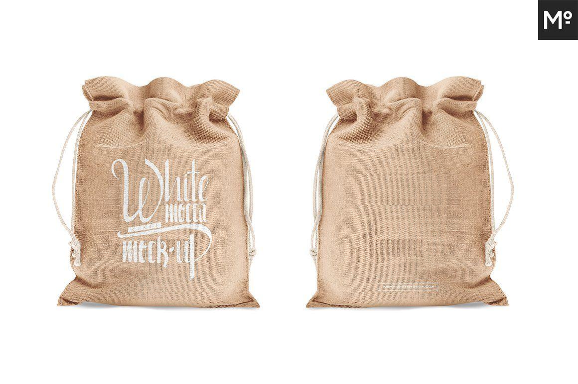 Download Drawstring Burlap Jute Bag Mock Up Jute Bags Jute Bags Design Bags