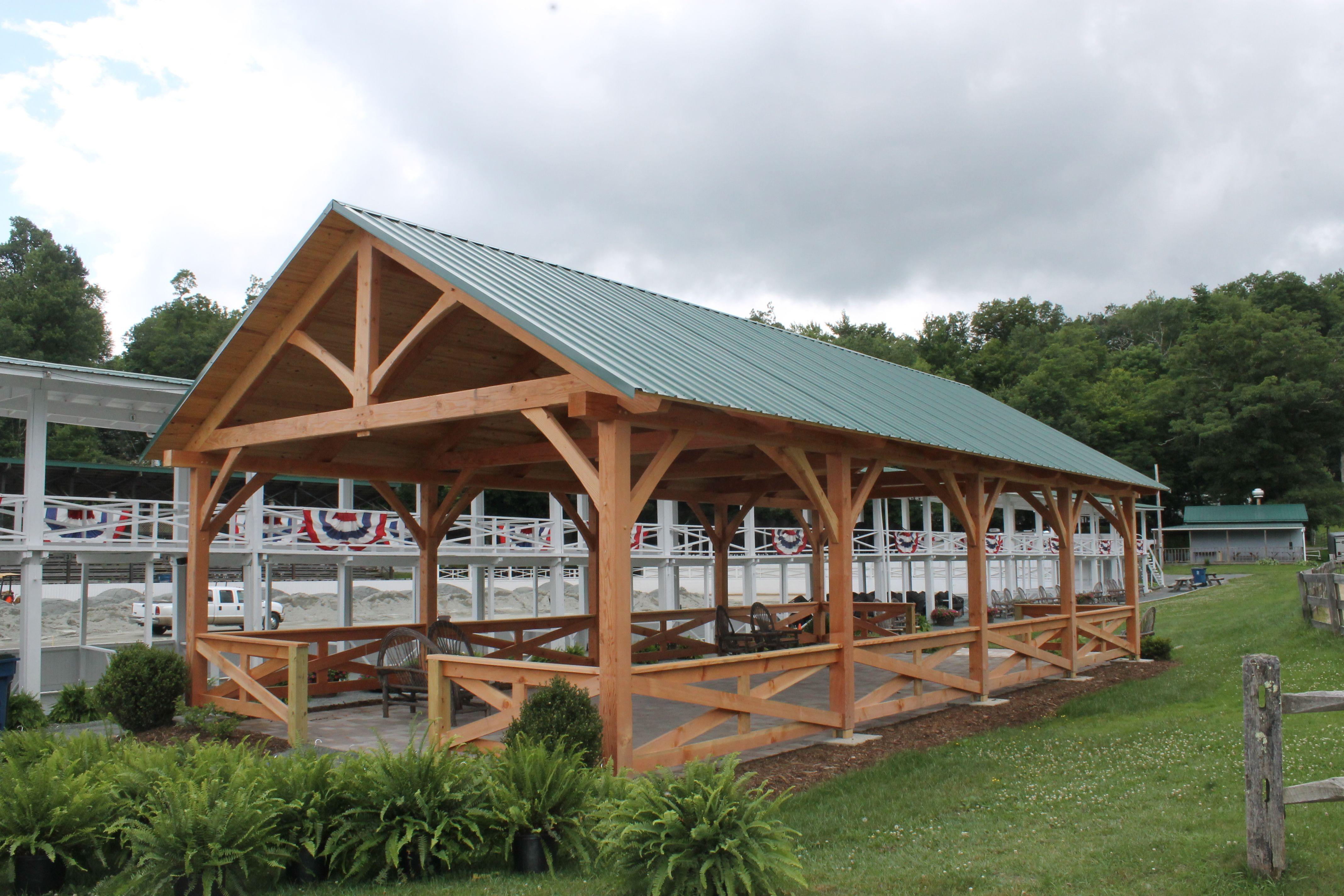 Blowing Rock Horse Pavilion, custom timber framing | ( Harmony ...