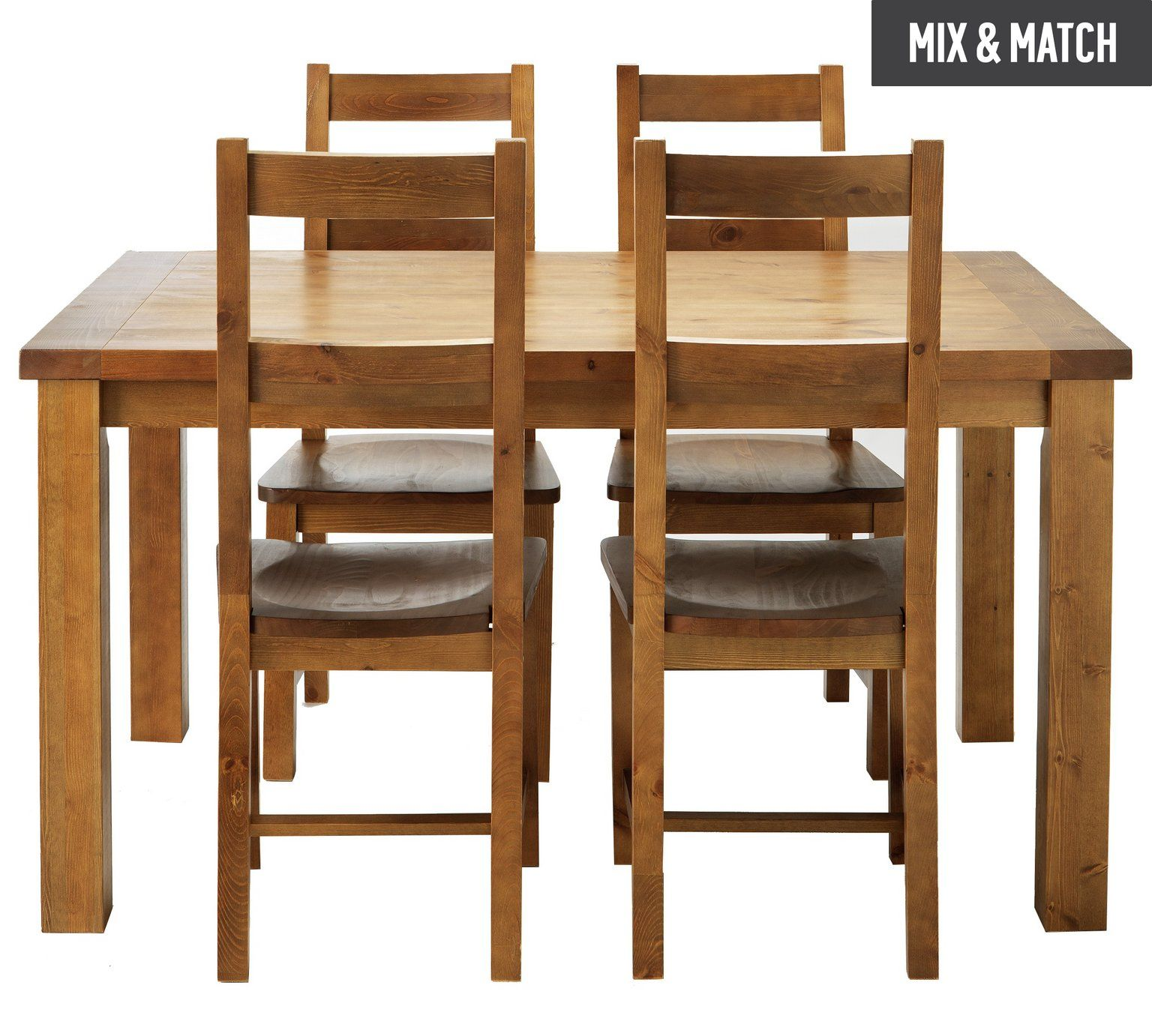Buy Collection Arizona Solid Pine Dining Table U0026 4 Chairs   Pine At Argos.co