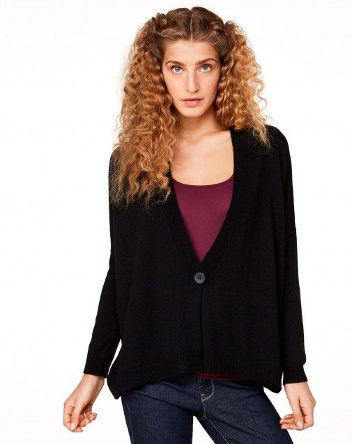 Shop Maxi V-neck cardigan Black for KNITWEAR at the official ...