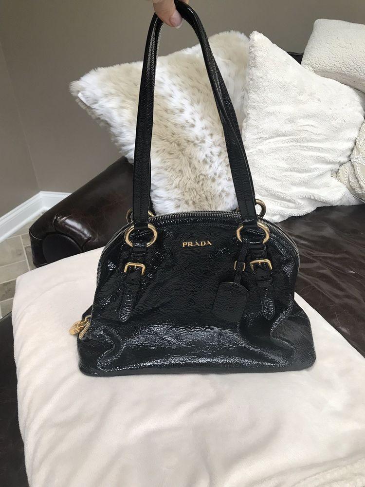 941966ff11a Prada Vintage Bauletto Patent Leather Bowling Bag Purse