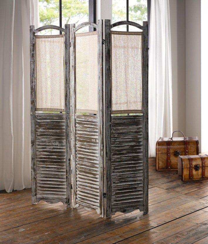 Paravent Shabby Holz Raumteiler Trennwand Spanische Wand
