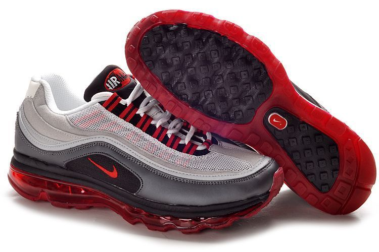 Discount Authentic Womens Nike Air Max 24-7 Shoes Grey/Black/Red