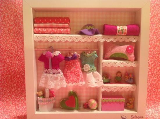 Cuadro para la habitaci n del beb cuadro telas abalorios for Cuadros habitacion bebe