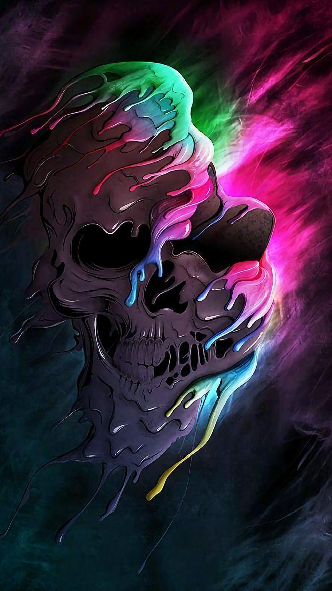Colorful Skull Skull Wallpaper Skull Art Skull Pictures