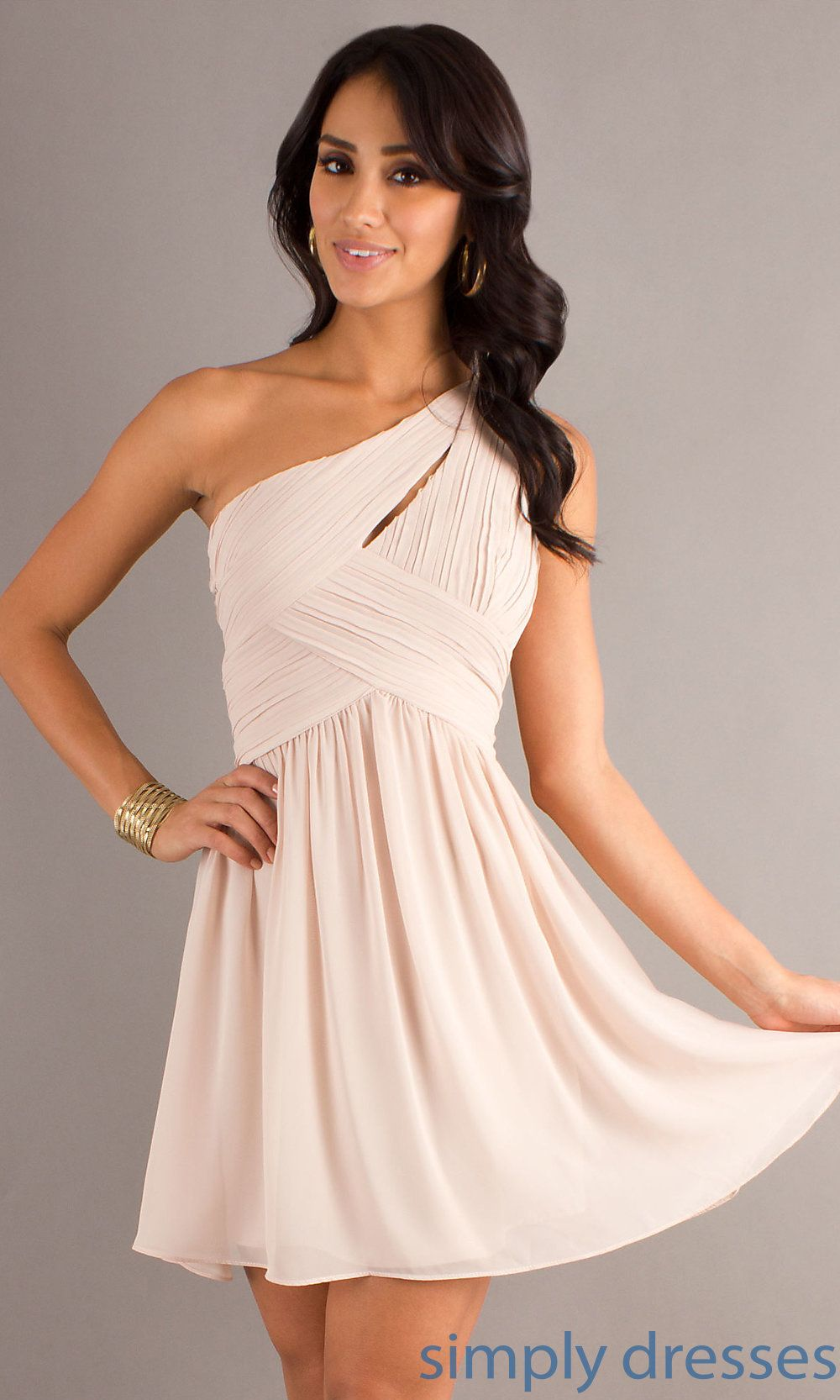 MT-MD-6058 - One Shoulder Short Semi-Formal Dress MT-MD-6058 ...