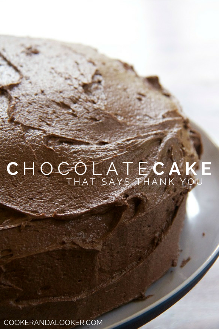 Chocolate cake can say many things, this chocolate cake that says thank you. You'll be amazed at how simple it is to make and how delicious the result is. via @cookerandlooker