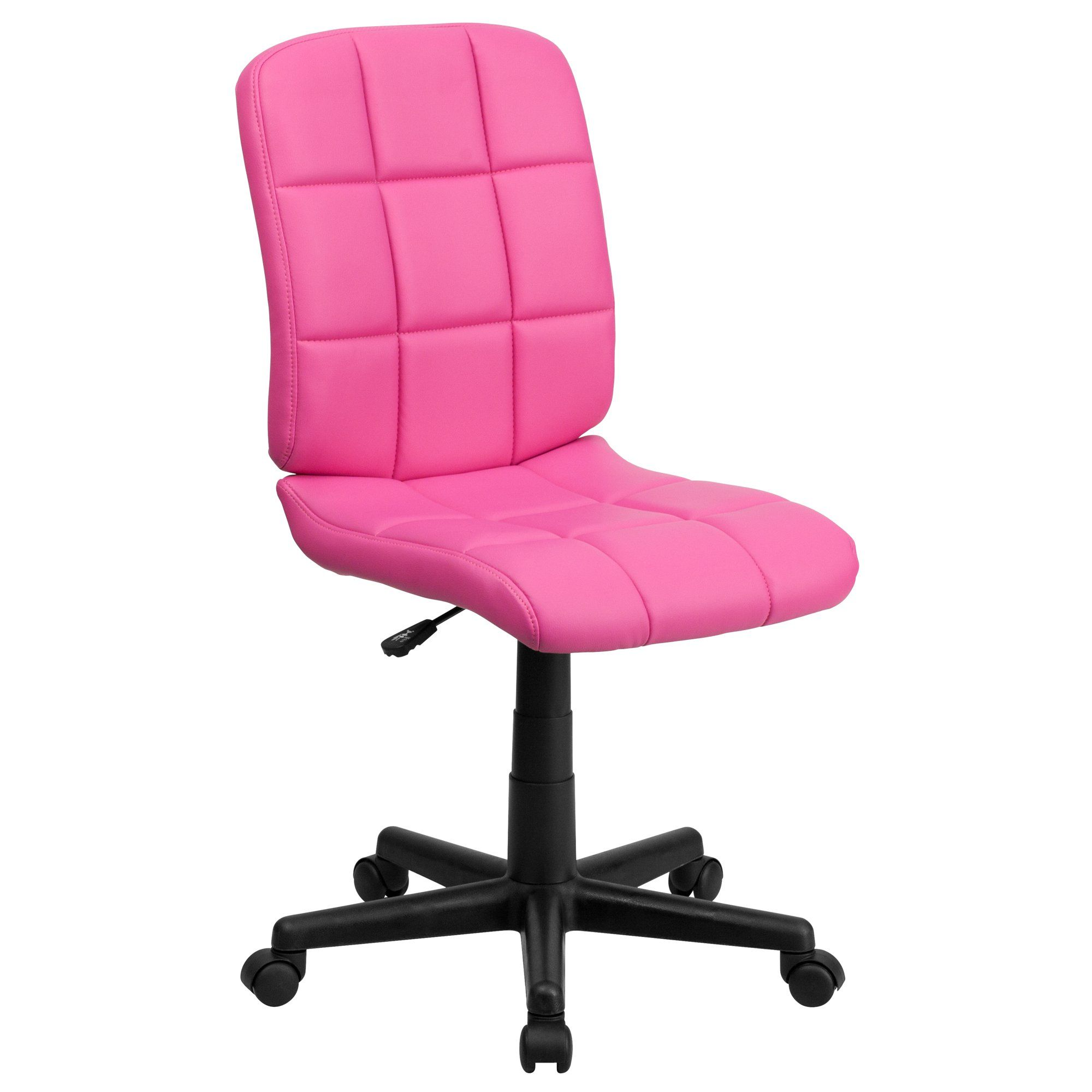 Flash Furniture Mid Back Quilted Vinyl Swivel Armless Task Office Chair Multiple Colors Walmart Com In 2020 Pink Desk Chair Task Chair Flash Furniture