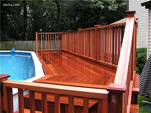 Privacy Screen Wall Deck Picture Gallery 211 Yard Pools Above