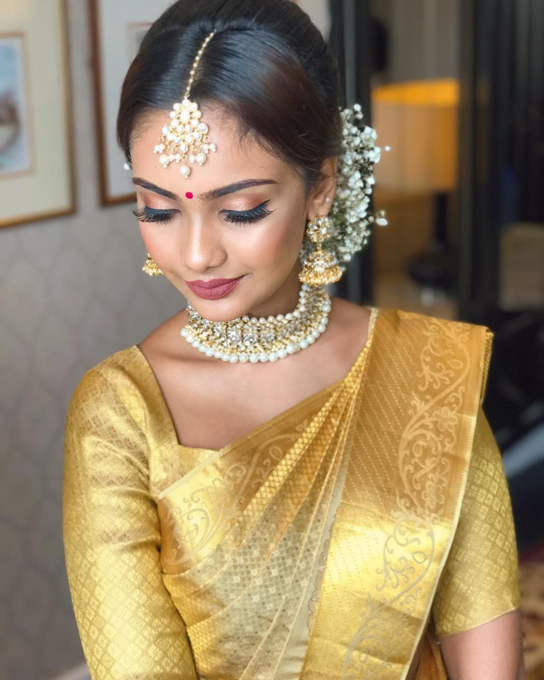 South Indian Jewellery Designs For Brides To Look Drop: Collaboration Shoot With @kancheevaram_weaves_by_zobha