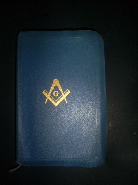 MASONIC EDITION HOLY BIBLE 1940 GOLD LEAF EDGES RARE NO NAME INSCRIBED BROTHER Offered by #ksister22 on Bonanza
