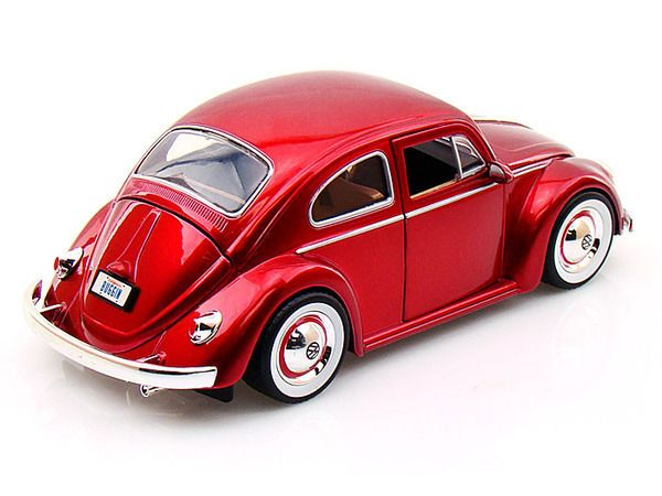 Jada Toys Big Time Kustoms 1 24 Scale 1959 Vw Volkswagen Beetle Bug With Baby Moon Rims Red Diecast Car Model 92358 Car Model Diecast Cars Volkswagen Beetle