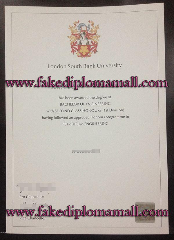 London South Bank University/LSBU degree, where to buy London South
