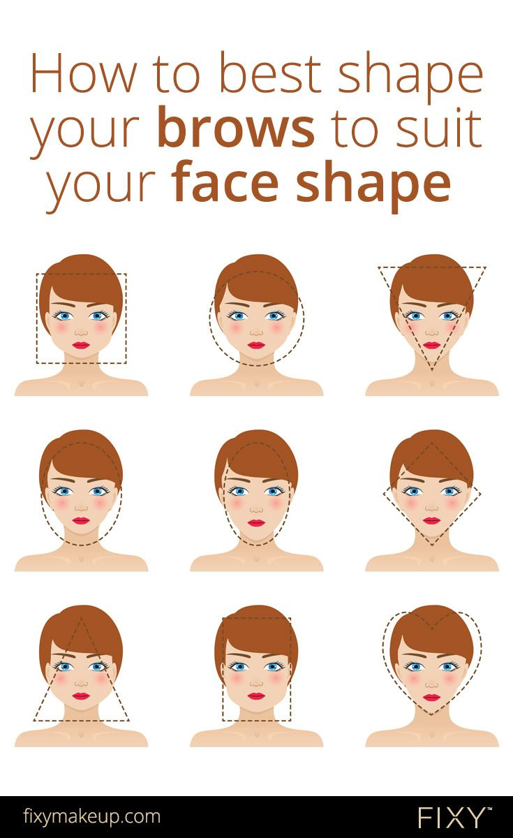 Eyebrows 101 How To Best Shape Your Brows To Suit Your Face Shape