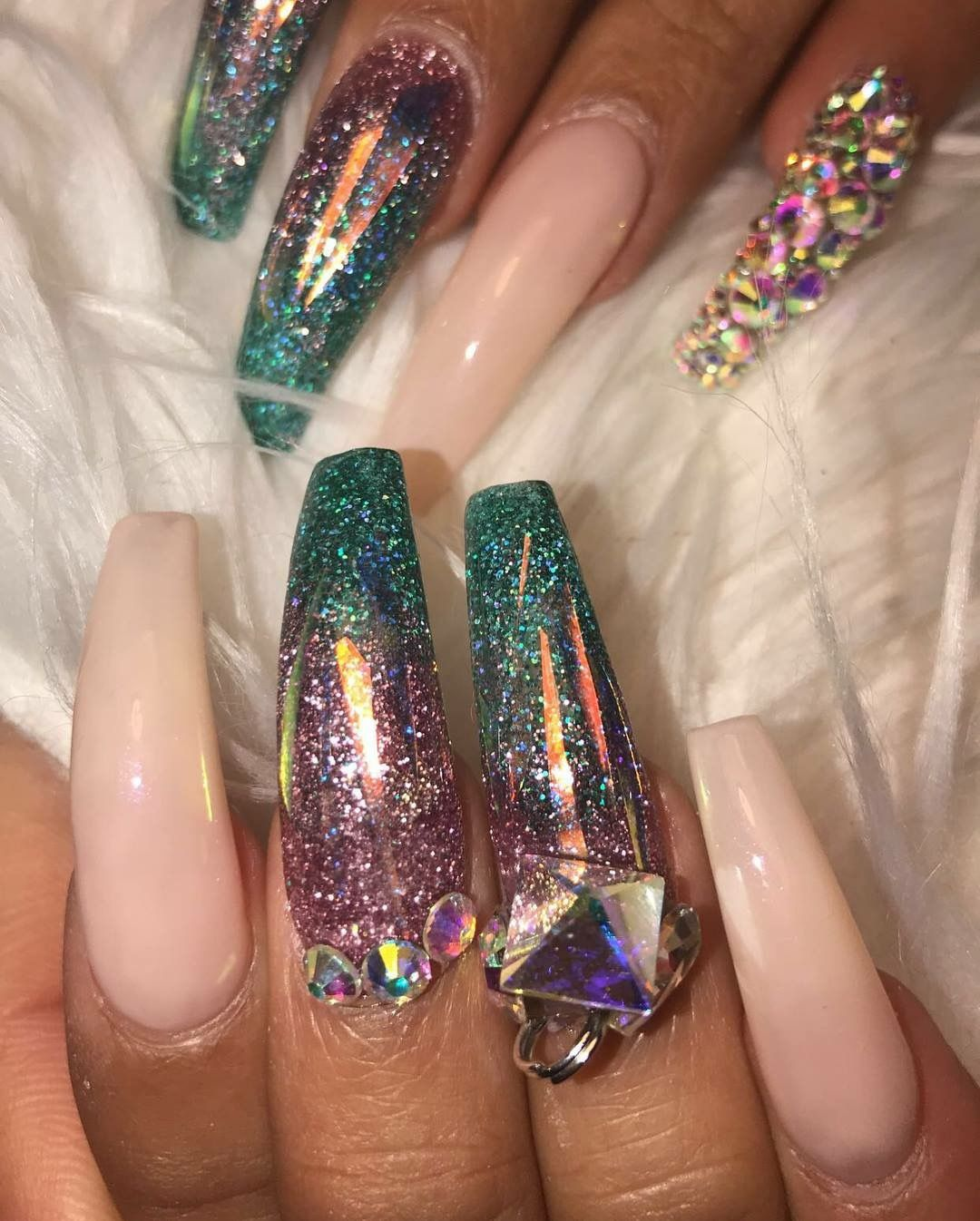 Pin by Emmi Phillips on Acrylic Nails | Pinterest | Nail inspo, Nail ...