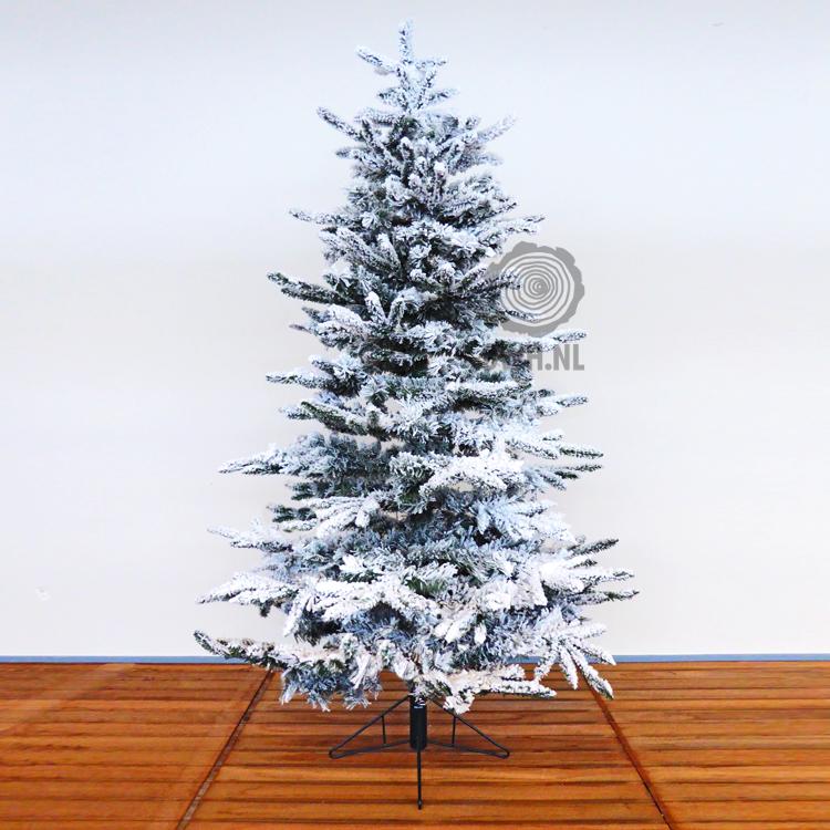 Detailfoto van kunstkerstboom met ingebouwde LED verlichting en niet ...