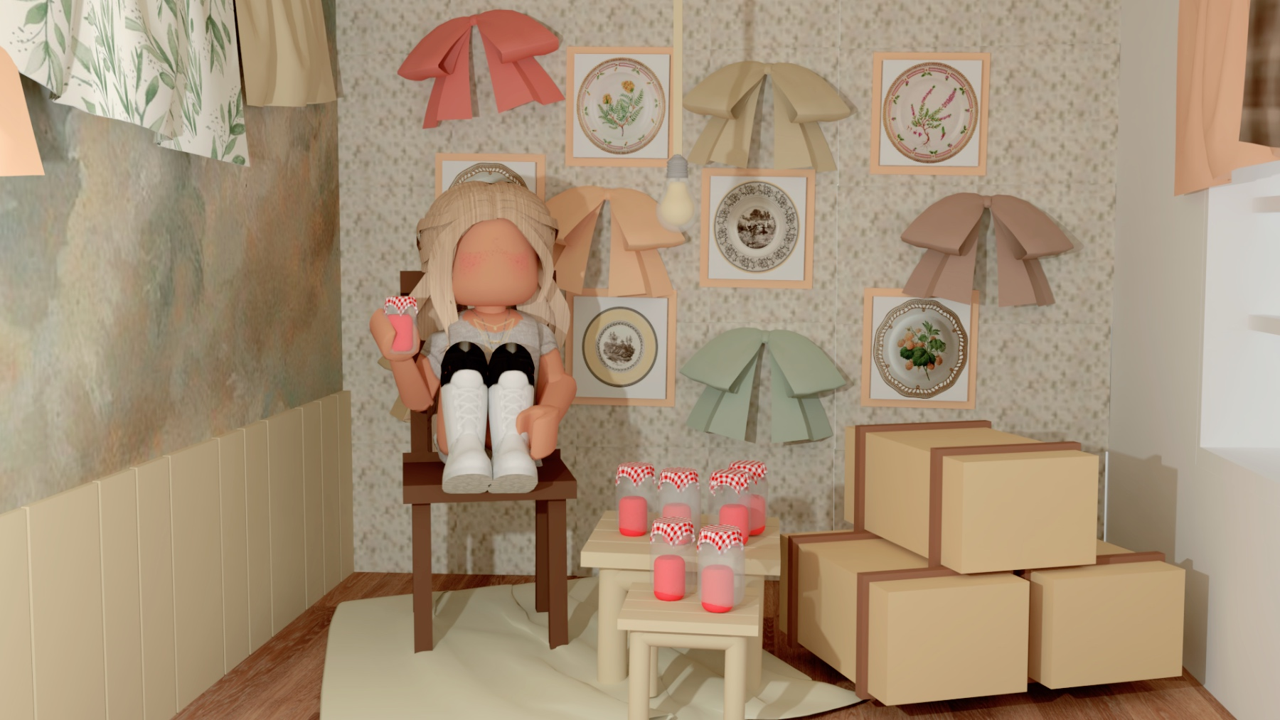 Roblox Gfx Jam Room In 2020 Roblox Cute Tumblr Wallpaper Roblox Animation