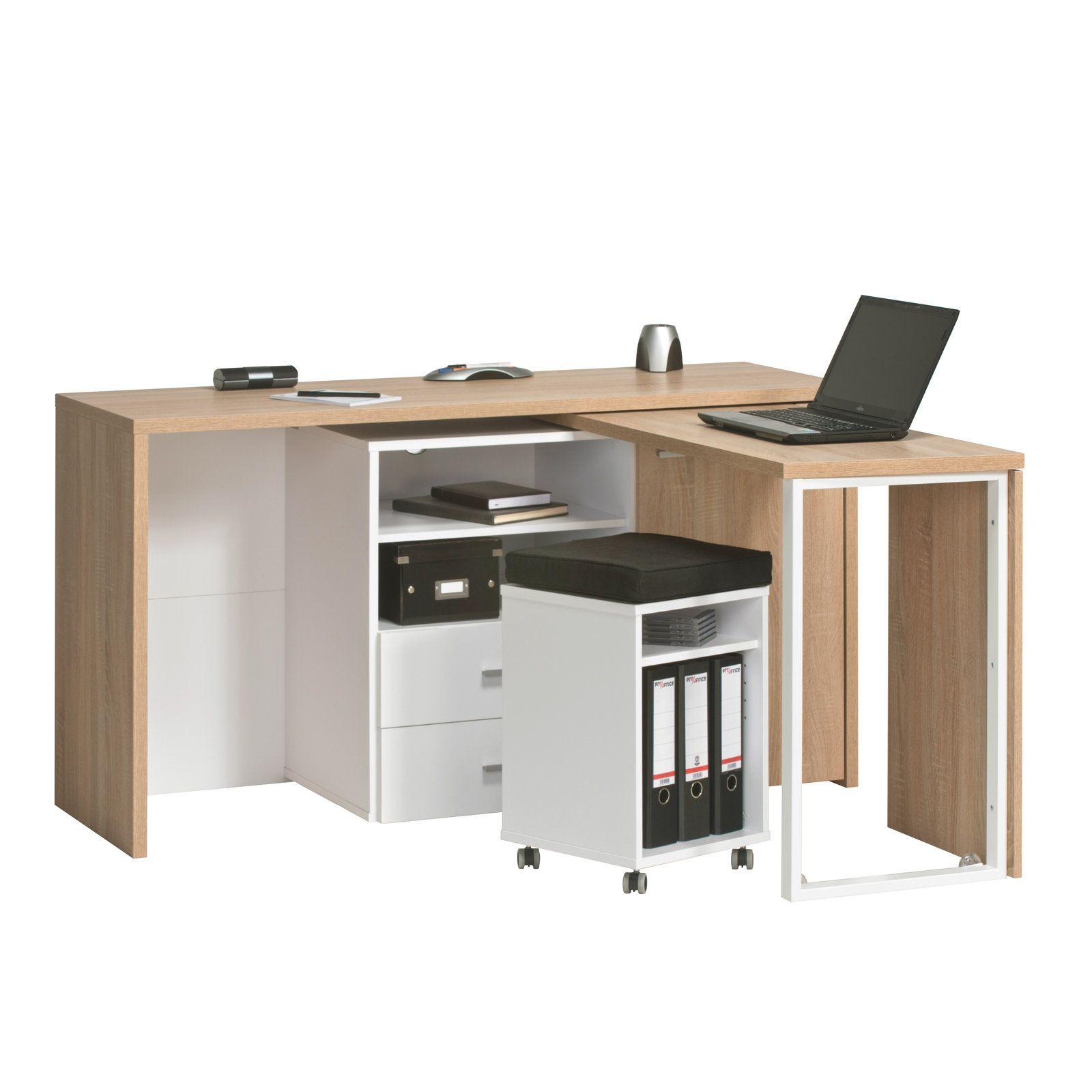 Schreibtisch Kommode Sonoma Eiche Minioffice Kommoden